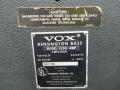 1968- Vox Kensington V1241, typeplaatje, switch en kalibreeropening G-Tuner. De V124 heeft geen G-Tuner.