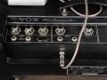 1968- Vox Westminster Bass V1182 120 watt RMS, Normal channel 2 inputs en Top Boost switch, Volume, Bass, Treble controls, Bass channel 2 inputs Volume, Tone X controls en pedal.