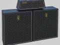 1969- Vox Westminster Bass Stak, Westminster V1182 head en 2 V417 Sovereign cabinets V417 4x12 inch.