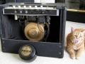1965- Vox Cambridge V3 open buizensectie en Oxford (Chicago) Golden Buldog 10 inch Alnico speaker kap eraf.