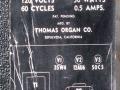 1965- Vox Student V5, buizen layout 25W4, 12AU6, 50C5, 120 volt.