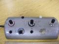 1966-1970 Vox footswitch 5 buttons en 4 indicator lamps, 6 pins plug. MRB, Reverb, Tremolo, Distortion en Repeat Percussion, uitsluitend voor Super Beatle V1143 en Series 90 V133.