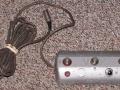 1966- Vox Beatle V1142II back 4 button footswitch DMRT met 6 pins plug.
