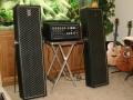 1967- Vox Churchill V119 amp 120 watt, met 2 V121 Grenadier XII PA speakers van 80 watt.