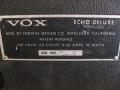 Vox Echo De Luxe V837, US solid state, typeplaatje.
