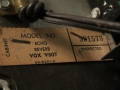 Vox Echo Reverb V807 inspectielabel.