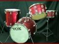 Vox Fanjet drumkit V9034, made by Trixon Hamburg Duitsland.