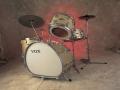 Vox Telstar eliptical drumkit V9024, made by Trixon Hamburg Duitsland.