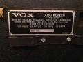 Vox Echo Reverb V807 1968, typeplaatje.