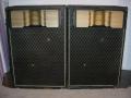 Vox Winston V419 PA cabinets met 4 JBL D130 speakers en JBL375 tweeters met Hartsfield horns Gold Lens en N1200 Crossover .