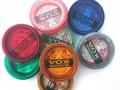 Vox UK snarensetjes 1965-1966 voor de Amerikaanse markt in 8 verschillend gekleurde doosjes.