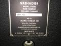 Vox V1091 GrenadierX PA speakers 40 watt, 4-16 ohm switch,typeplaatje.