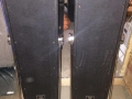 Vox V1091 GrenadierX PA speakers 40 watt, waarin 4x10 inch Celestion CT7722 10 watt 4 ohm ceramic PA speakers, 4-16 ohm switch, back.