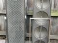 Vox V121 GrenadierXII PA speakers 80 watt, 4x12 inch Oxford 12K5-9 20 watt ceramic PA speakers, spaanplaat, front.