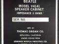 1966- Vox Beatle Cabinet V4141 typeplaatje.