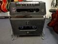 1966- Vox Berkeley II V1081 head en V4081 oval open cabinet 4 ohm back met 2x 10 inch Celestion 7724 ceramische speakers 8 ohm, in trolley.