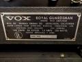 1966- Vox Royal Guardsman V113 typeplaatje.