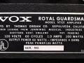 1966- Vox Royal Guardsman V1131 typeplaatje.