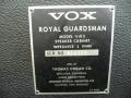 1966- Vox Royal Guardsman V413 cabinet typeplaatje.