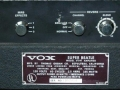 1966- Vox Super Beatle V1141 panel back.