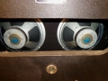 1966- Vox label Celestion speakers V7724 10 inch 8 ohm Ceramic als gebruikt in Vox Berkeley V4081 oval en V4082 closed cabinets.