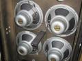 1969- Vox Series 90  V130 powered speakercabinet 140 watt RMS met 4x12 inch Celestion T.1656 Alnico speakers, 2x25 watt Celestion horns en crossover.