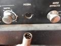 1966-1968 Vox Viscount, back panel links met 6 pins footswitch plug.