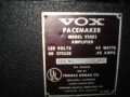 1966- Vox Pacemaker V1021, US Solid State, typeplaatje.