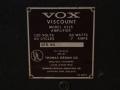 1966- Vox Viscount V115, typeplaatje.
