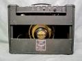 1967- Vox Pacemaker V1022 met E-tuner, US Solid State 17 watt RMS, 1 kanaal, 3 inputs, met Oxford (Chicago) Golden Buldog 10 inch Alnico speaker.