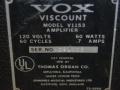 1967- Vox Viscount V1153, typeplaatje.