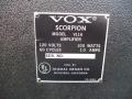 1968- Vox Scorpion V116 typeplaatje.