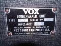 1967- Vox Conqueror VSEL typeplaatje cabinet.