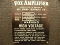1967- Vox Defiant VSEL typeplaatje head.