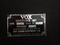 1967- Vox Supreme, VSEL typeplaatje cabinet.