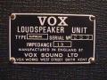 1967- Vox Supreme, VSL typeplaatje cabinet.