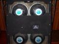 1967- Vox Supreme half open back, 4x12 inch Goodmans 12P speakers 8 ohm en 2 Goodmans Midax horns 16 ohm.