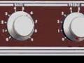 Red panel Vox LW30 SS. Zwak transitor circuit verwant met T60 design van Les Hill, 1 kanaal high low , volume, bas, treble.