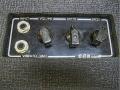 Vox Lightweight LW30 Versie 2 1964, zwart tweede rearpanel met vibrato en kanaal high-low controls.