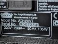 2001-2003 Valvetronix AD120VT, typeplaatje.