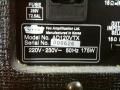 2003-2007 Valvetronix AD120VTX, typeplaatje met speaker impedance selector.