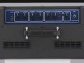 2010- AC15VR Blue panel, 1 input 2 kanalen Normal Overdrive, Digitale Reverb chip, Tone eq Treble en Bass. Gold strings zijn achterwege gelaten.