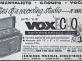 JMI advertentie van september 1959 met de Framez Wheel Echomatic met voxECHO label, Model-F single speed met 5 weergavekoppen.