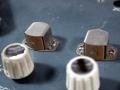 Bruin bakelieten Marriott heads op Copycat MKII. Weerstand 350 ohms, Inductance 250mH, Spleet 13 mu.   Fabrikant Marriott Magnetics Ltd (Mariott Magnetics Magnetic Components), Watersideworks, Ponsharden, Penryn (Cornwall).