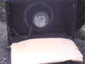 WEM Super 30 Bass Cabinet met single 15 inch Goodmans speaker, open back.
