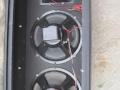WEM 2x10 PA cabinet 16 ohm, medio zeventiger jaren, open back met 2x Peerless 10 inch speakers en Celestion T1360 horn met cross-over.