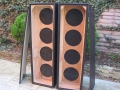 WEM 4x12 PA columns, open back zonder speakers.
