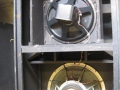 WEM Intruder Reflex Bin 1977-1980, open back met onder een Celestion 15 inch G15M bas speaker en boven een Peerless 12 inch mid-range speaker.