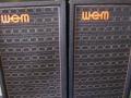 WEM Sytem Club PA Columns, 1971 2x12 inch, 1972 12 inch+10 inch +horn, 1975 2x12 inch + horn.