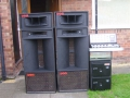 WEM X39 Reflex Bins, WEM horns en Isle of Wight rack.